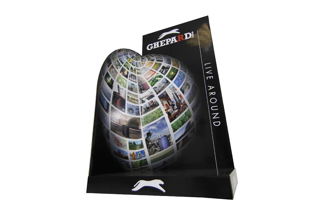 Cartello vetrina/Espositore tridimensionale per valigie