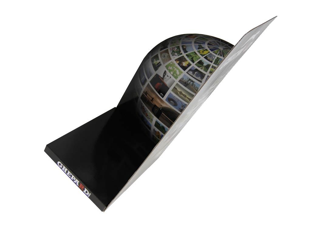 Cartello vetrina sagomato angolare Cartesio Fullcard