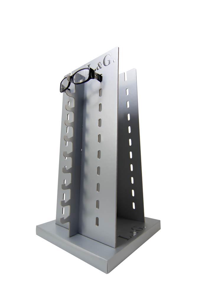 Espositore da banco per occhiali