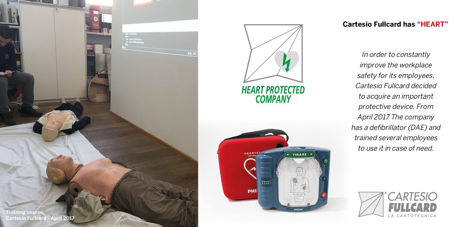 Defibrillatore DAE Cartesio Fullcard