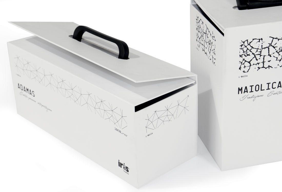 Box porta-tozzetti con maniglia in plastica