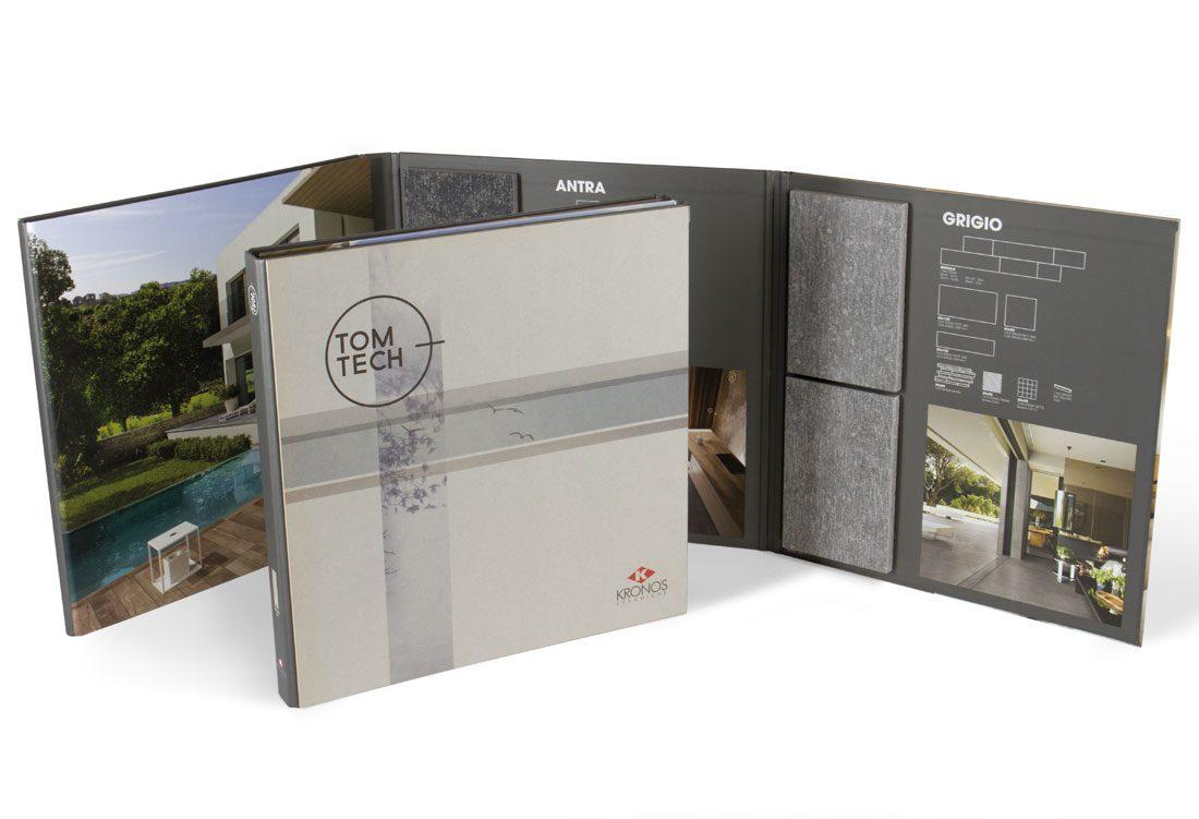 Folder con 2 plance in cartone grigio stampato