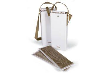 Valigetta porta-tozzetti con doppia maniglia in tessuto colorato