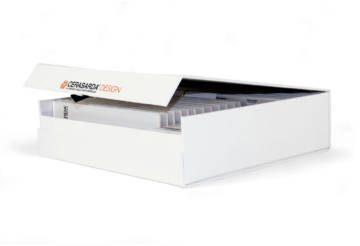 Box con plance porta-tozzetti in cartone vegetale