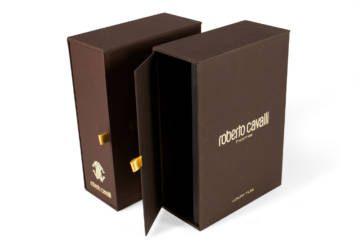 Box porta-folder con stampa a caldo in oro