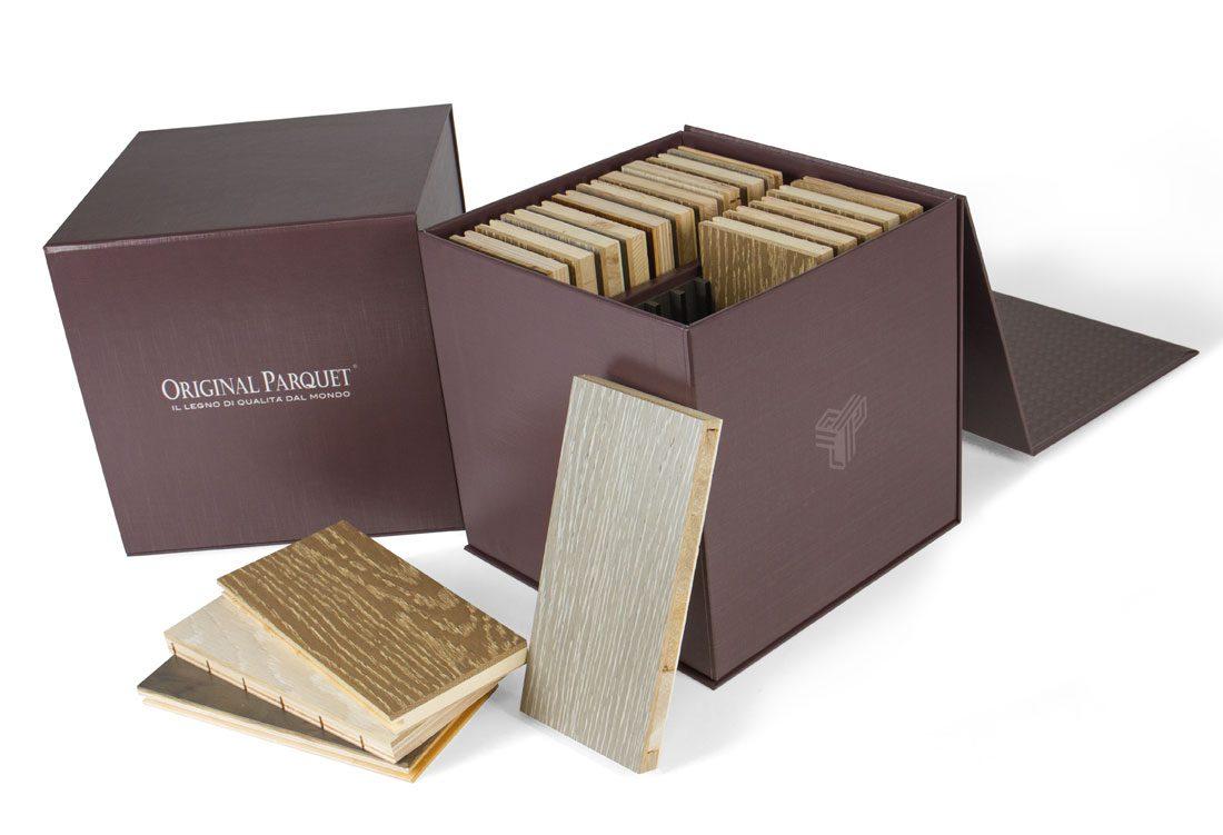 Box porta-tozzetti in legno con separatori interni in forex nero fresato