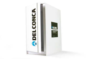 Box porta-cataloghi con zoccolo