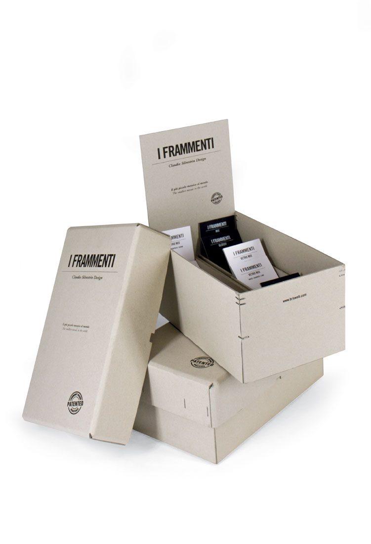 Box fondo-coperchio con separatori interni e crowner con chiusura con punto metallico