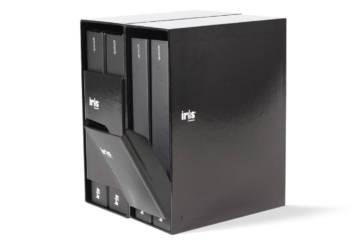 Box porta-folder con coperchio basculante