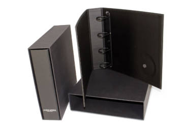 Binder with ring mechanism and DVD slot