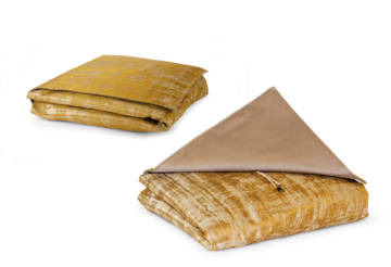 Several poaches made with refined Rubelli fabric
