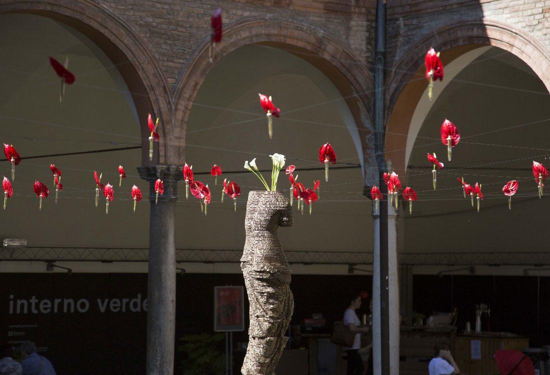 """Allestimento per la manifestazione """"Interno Verde"""" di Ferrara"""