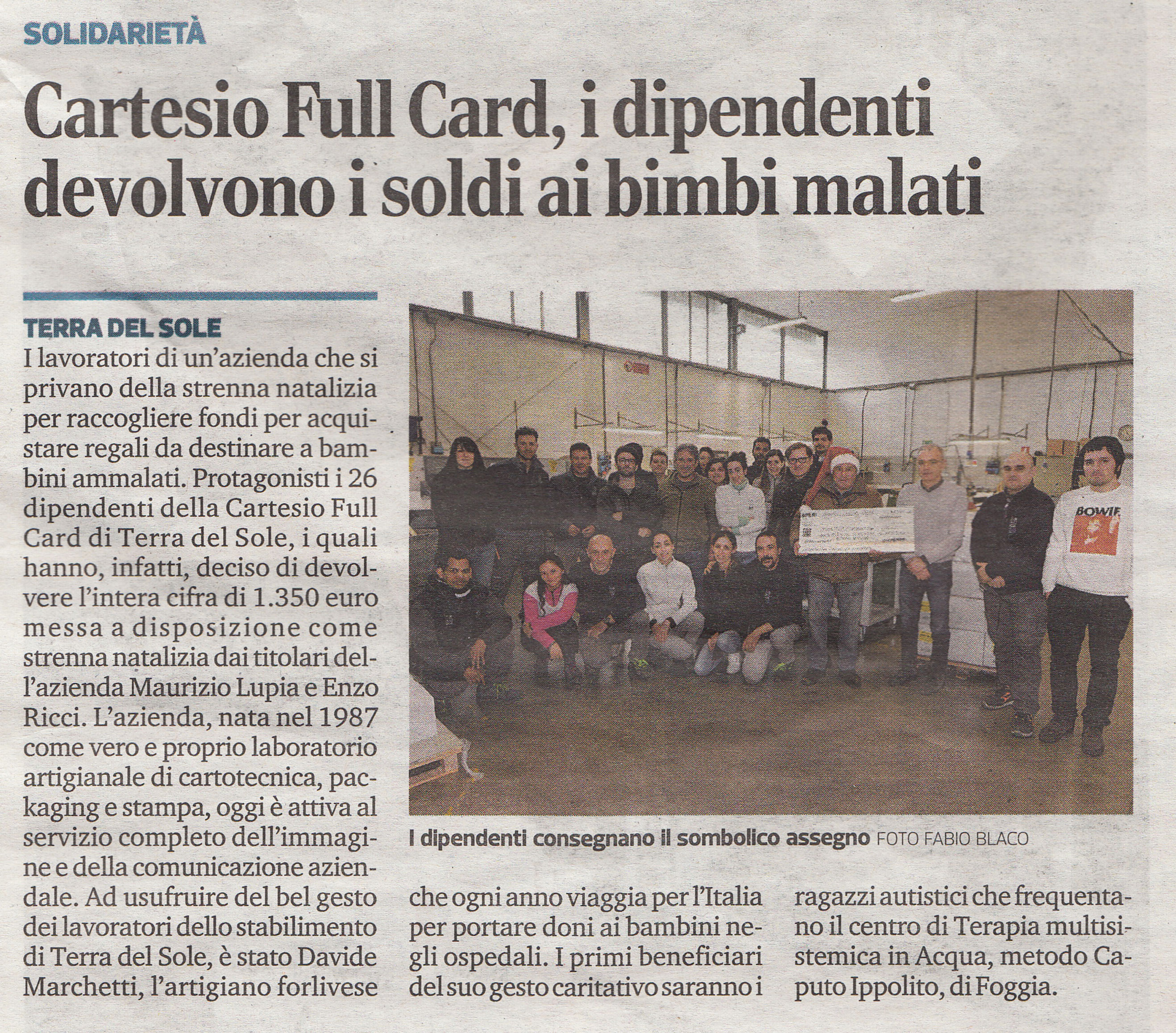 Cartesio fullcard solidarietà