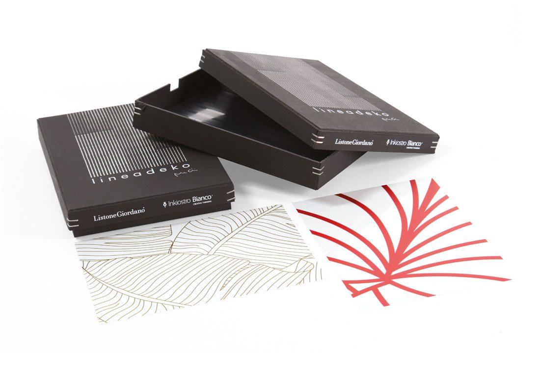 Box in cartone pasta nera con stampa serigrafica