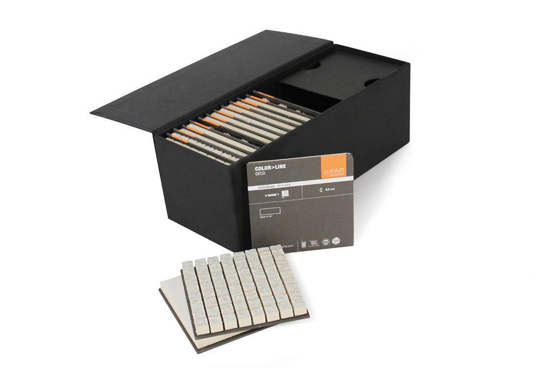 Box porta-tozzetti rivestito in carta usomano